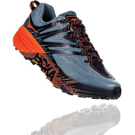 Hoka One One Speedgoat 3 Chaussures de trail Homme, stormy weather/tangerine tango